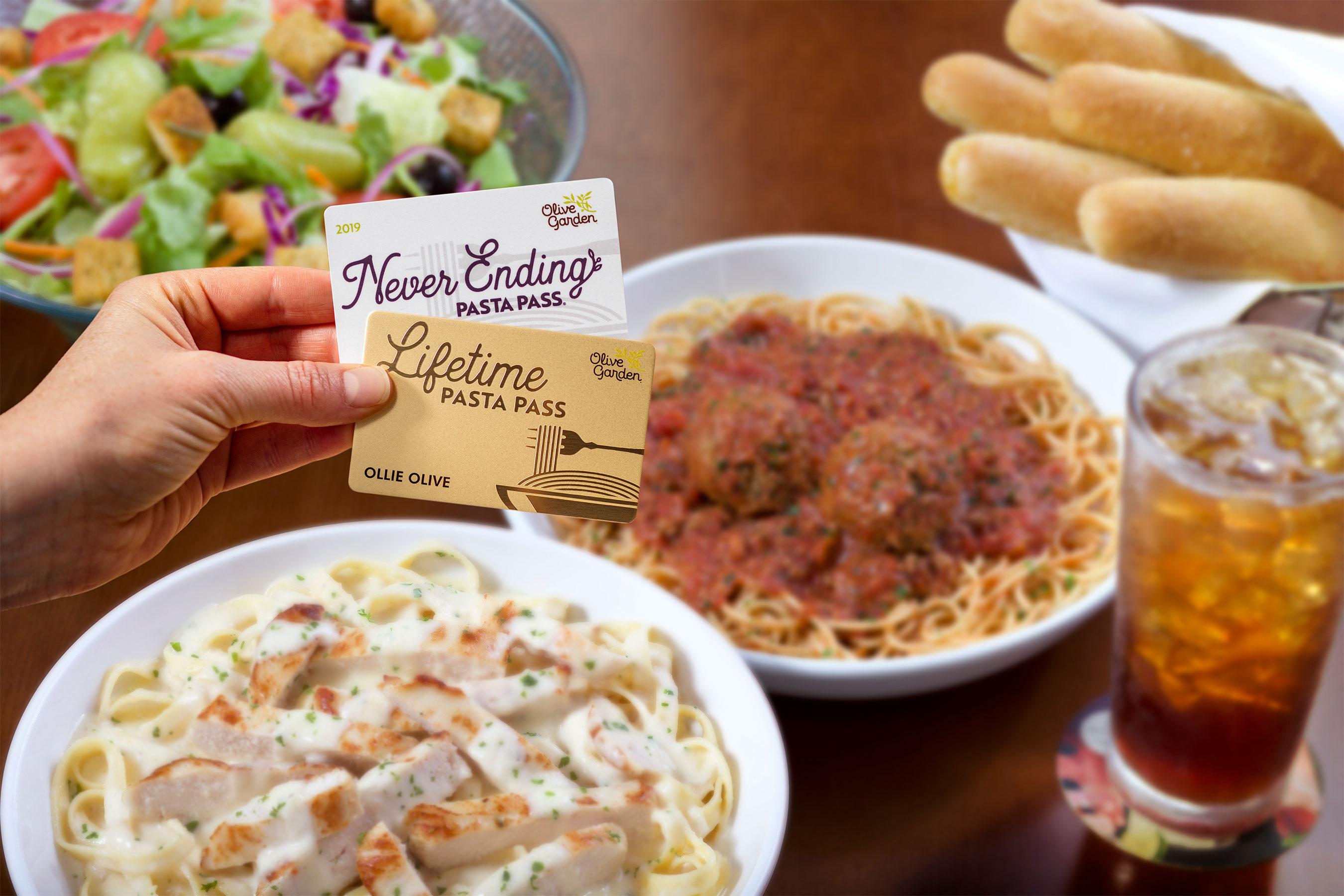 Olive Garden Introduces New Never-Ending Lifetime Pasta Passes — Here's How to Get One