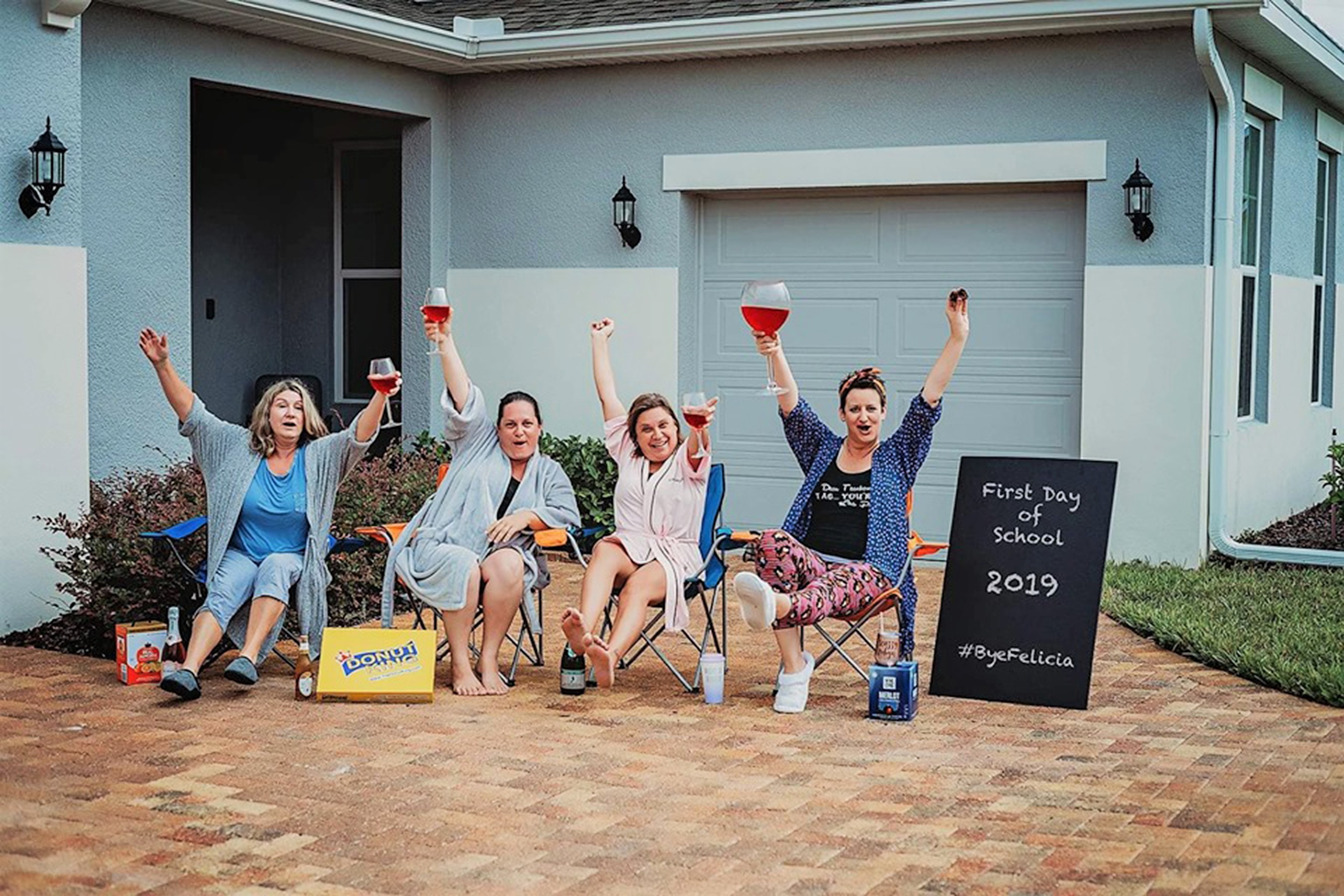 Moms Celebrate First Day of School with Hilarious 'Bye Felicia' Photo Shoot: 'Me and My Girls!'