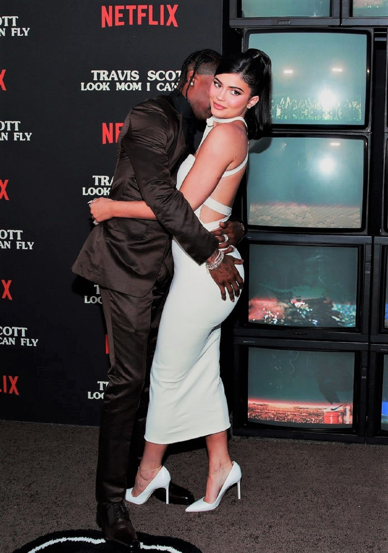 """Travis Scott and Kylie Jenner at Premiere Of Netflix's """"Travis Scott: Look Mom I Can Fly"""""""