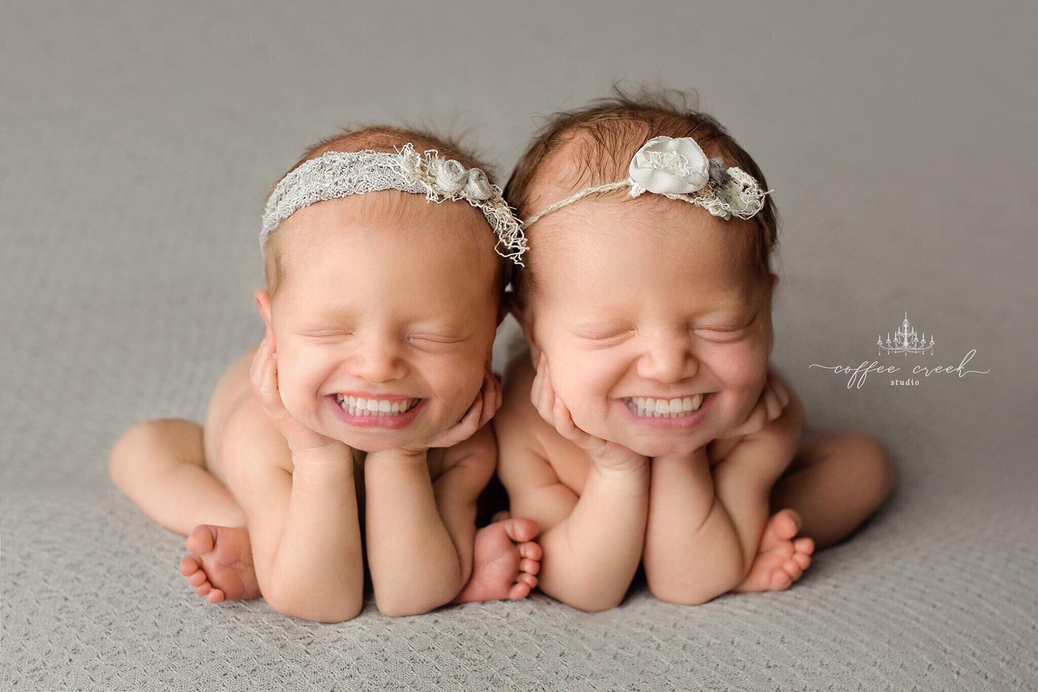 Photographer Adds Toothy Grins to Baby Portraits & It's Pretty Freaky