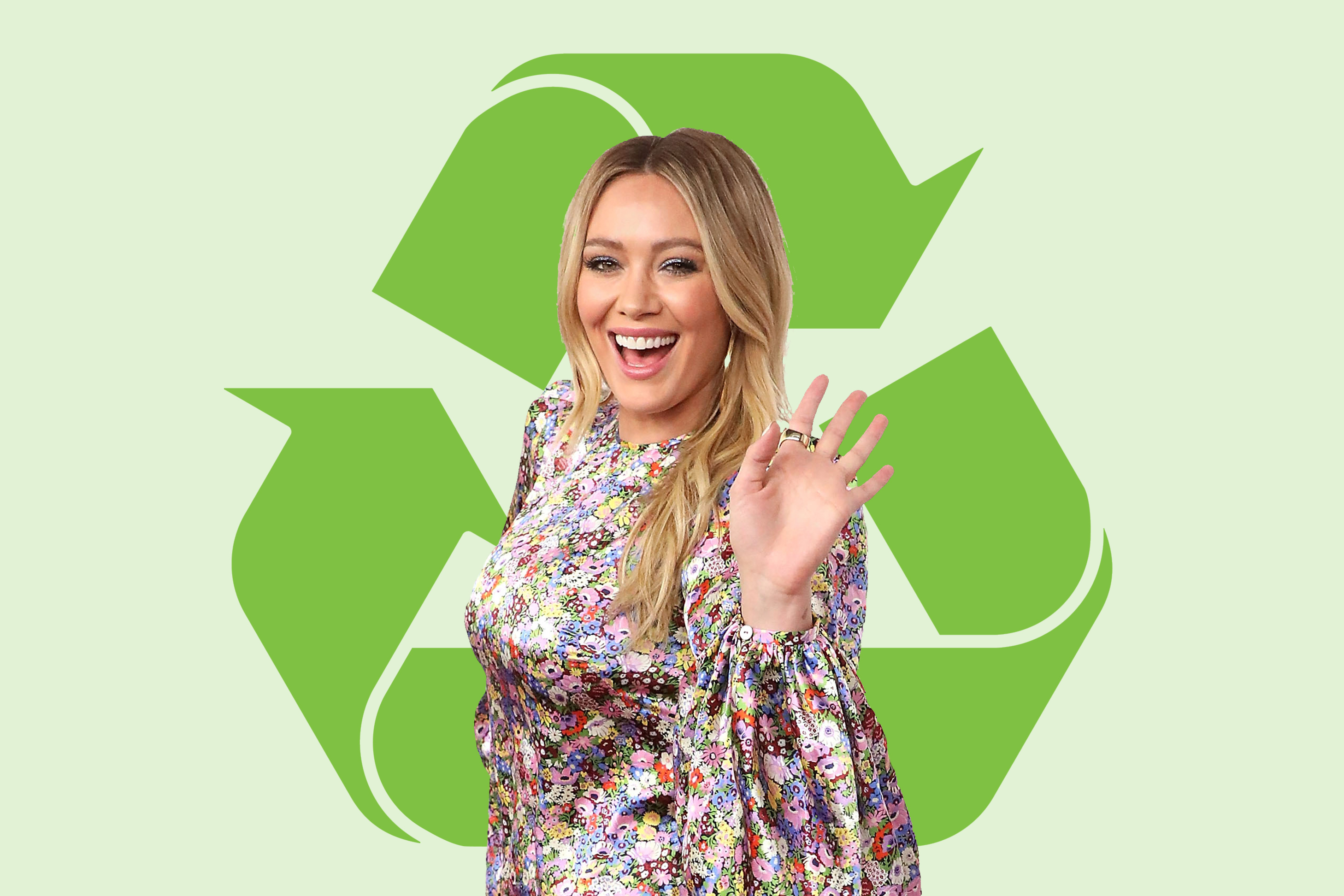 Hilary Duff Shares a Really Easy Way to Recycle as a Family