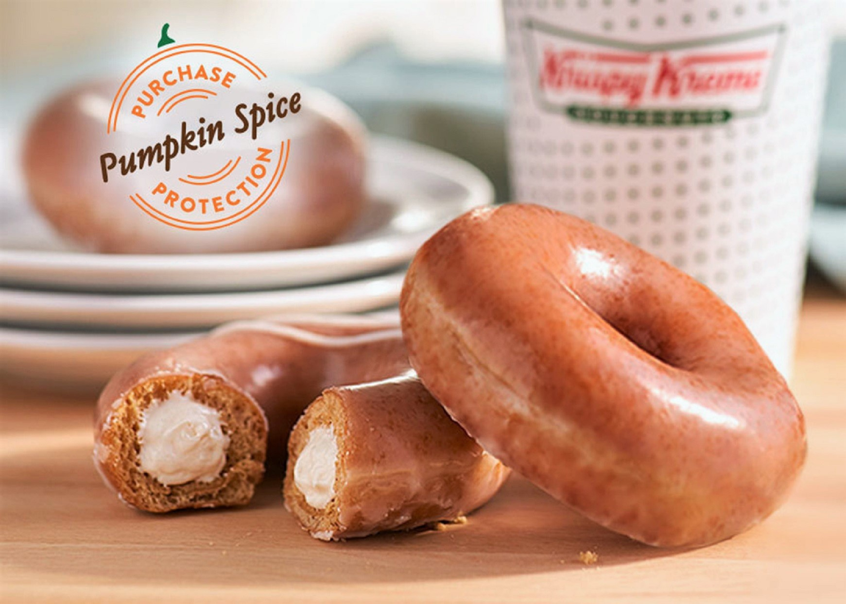 Krispy Kreme Introduces Cheesecake-Stuffed Pumpkin Spice Donuts for One Week Only