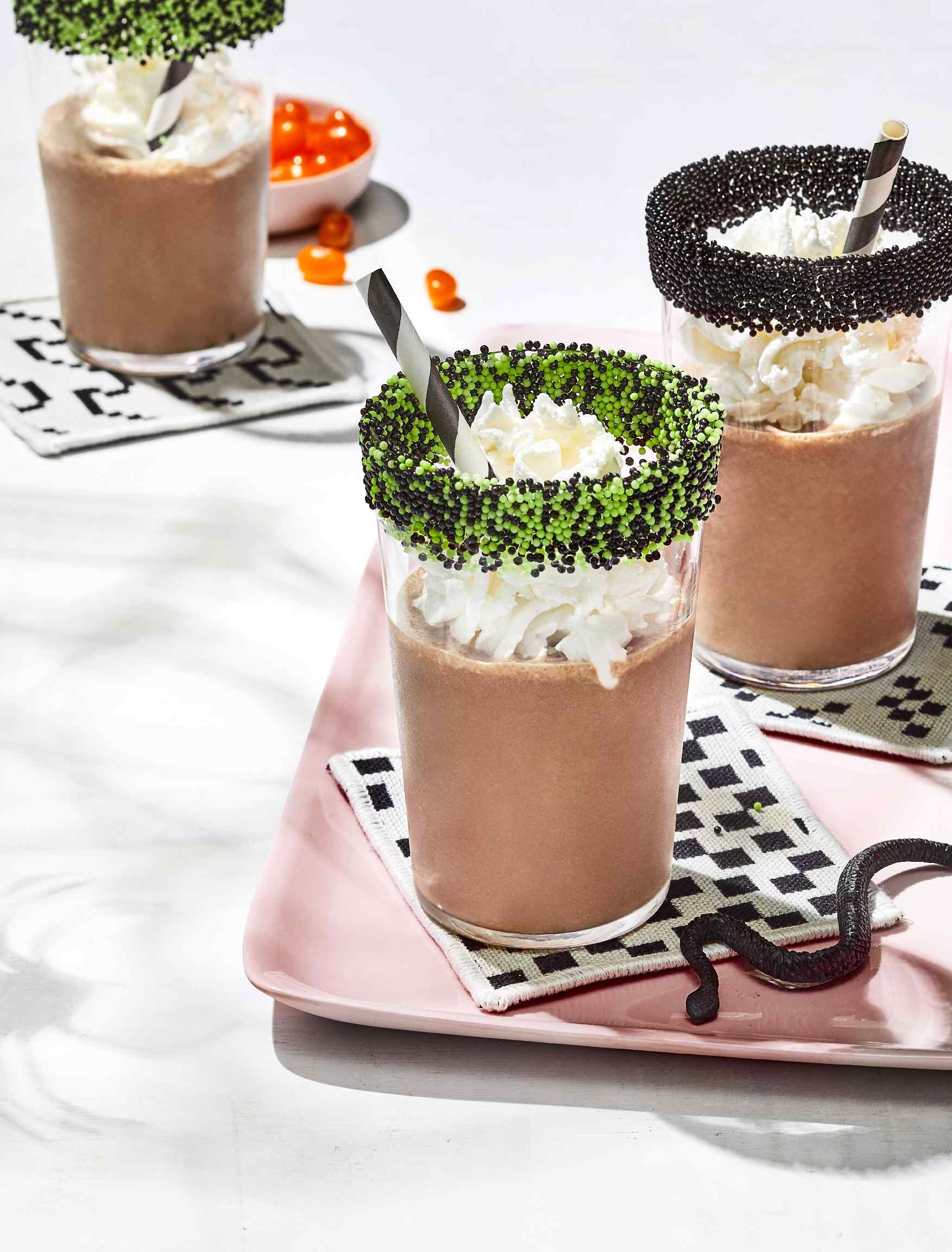 These smoothies double as a delightful Halloween breakfast. Prep the cereal milk the night before, and blend everything together in the A.M.