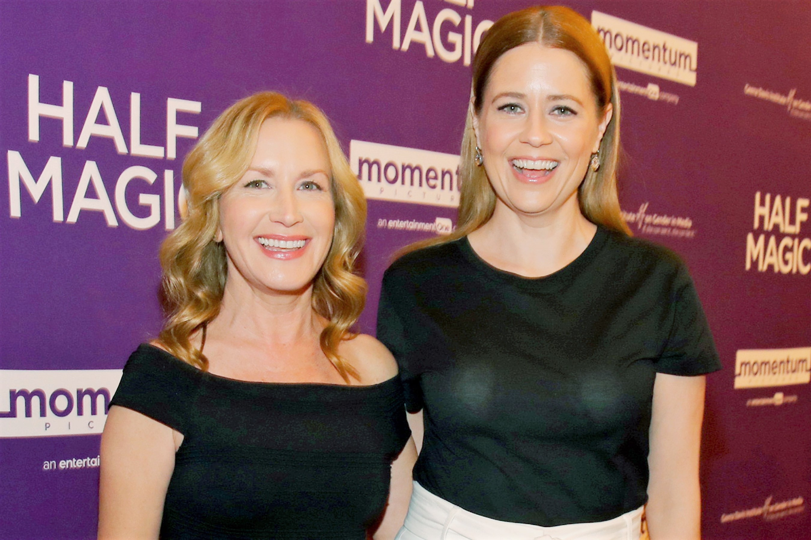 Angela Kinsey and Jenna Fischer at the premiere of Momentum Pictures Half Magic