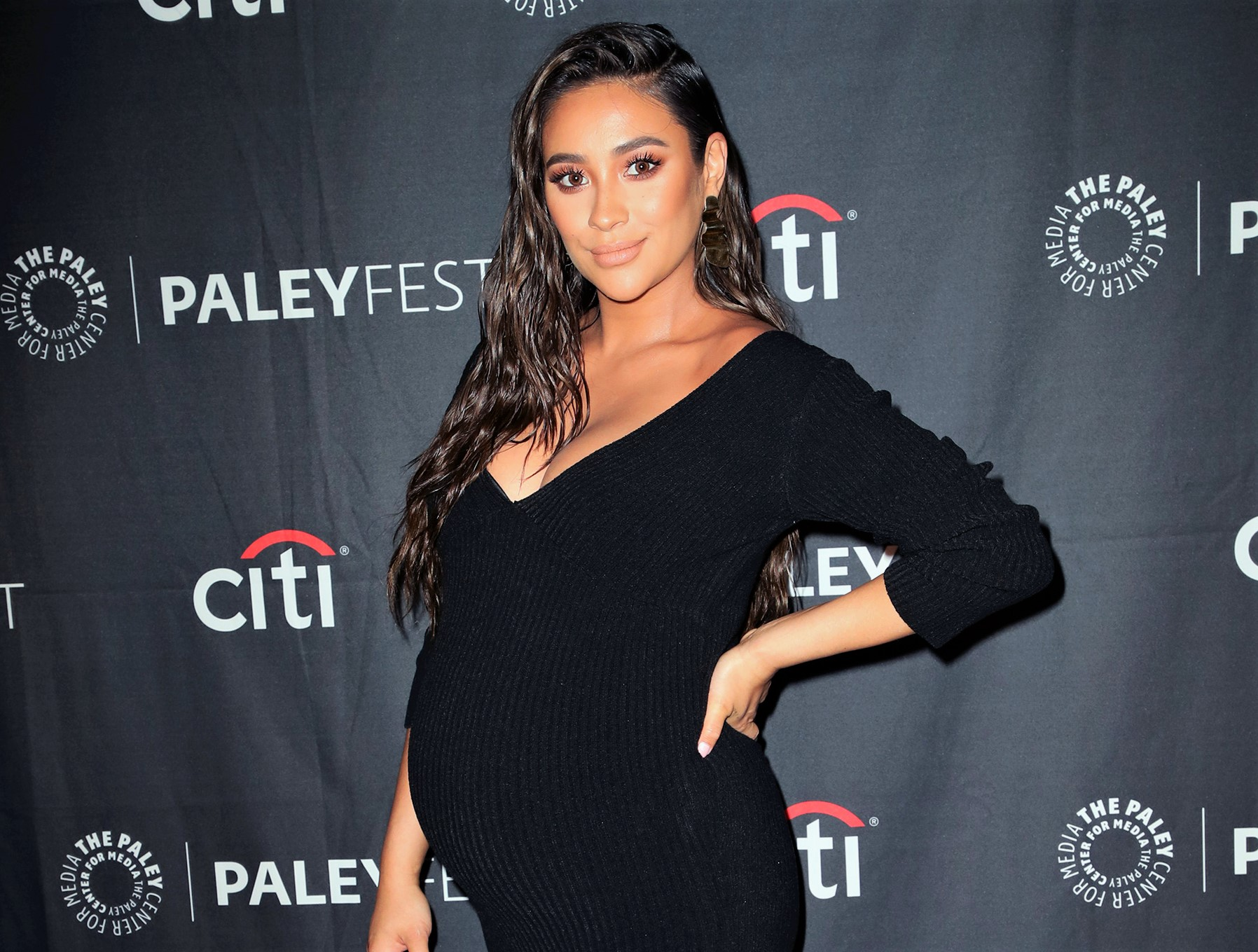 Pregnant Shay Mitchell Shows Off Baby Bump on Red Carpet, Says She'll Take 'No Maternity Leave'