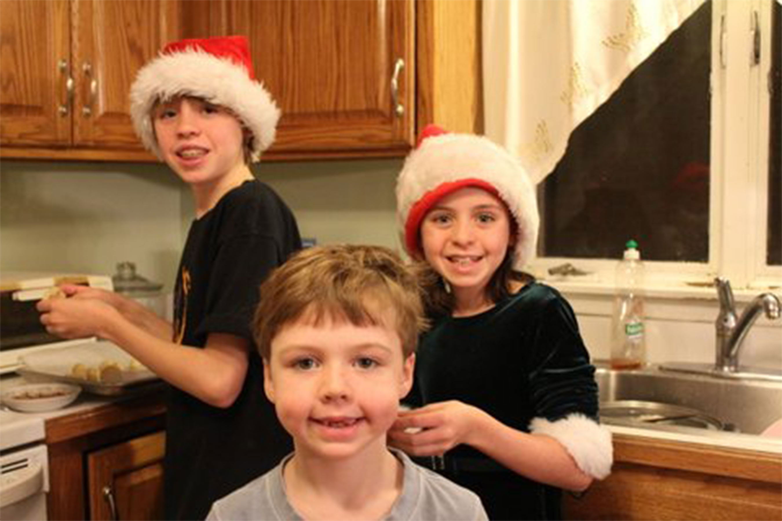 James Daniel and Natalie Barden Christmas Hats
