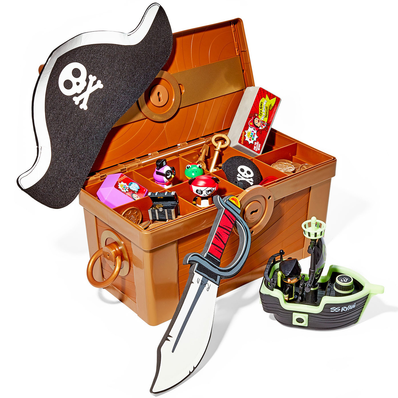 Bonkers Toys Cap'n Ryan's Mega Mystery Treasure Chest