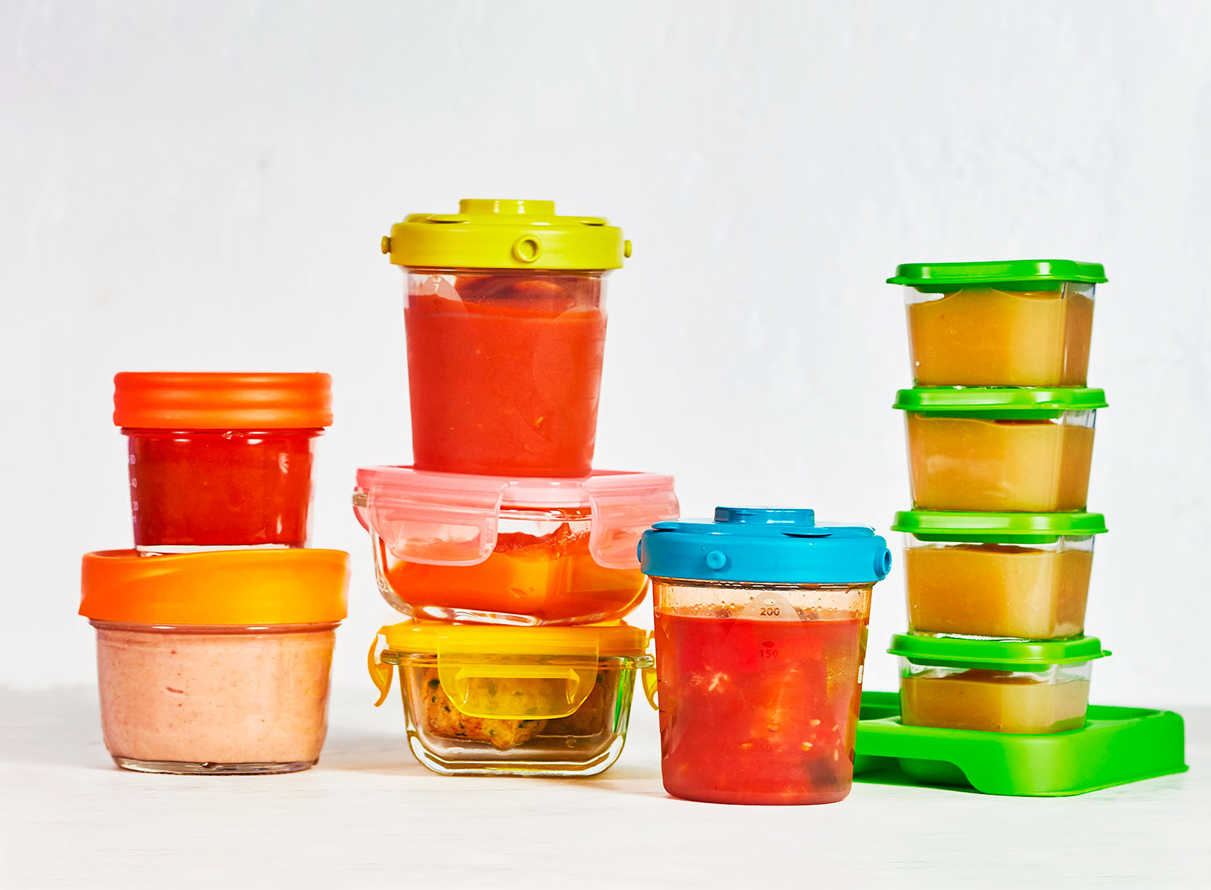 baby food in storage containers