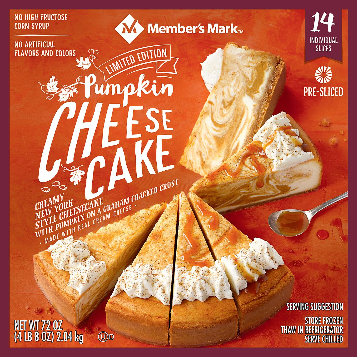 Sam's Club 4-Pound Pumpkin Cheesecake Is Officially Back on the Shelves