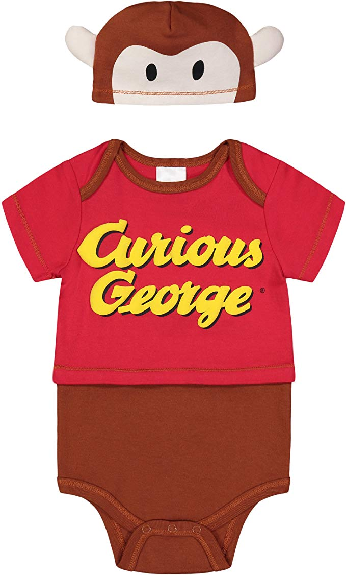 Literary fans will love thisCurious George two-piece costume for their little monkey.