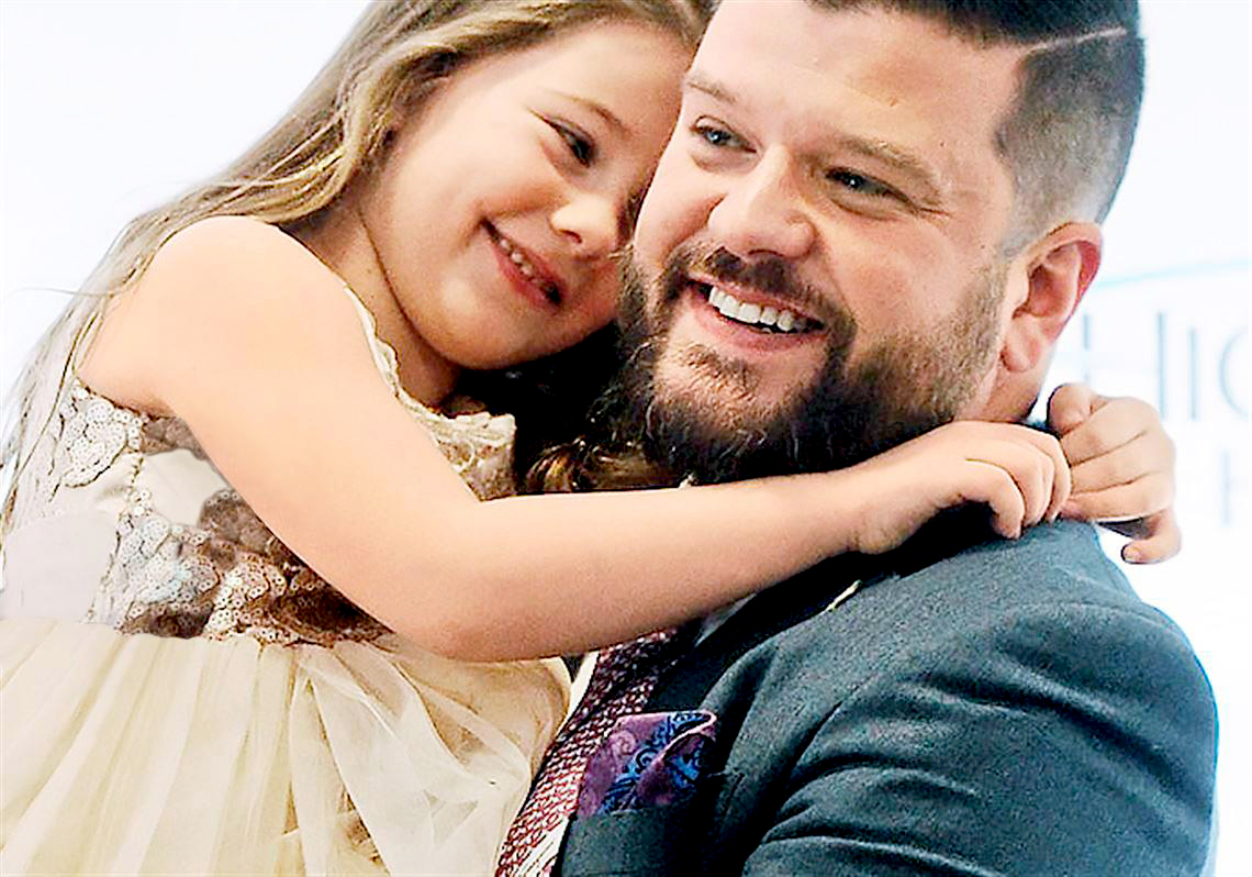 Steven D'Achille with his daughter