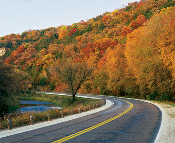 Fall colors the Historic Bluff Country National Scenic Byway
