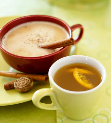 Hot Buttered Rum and Spiced Pear Tea