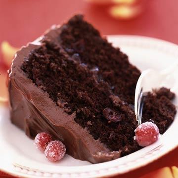 Luscious Cranberry-Chocolate Cake