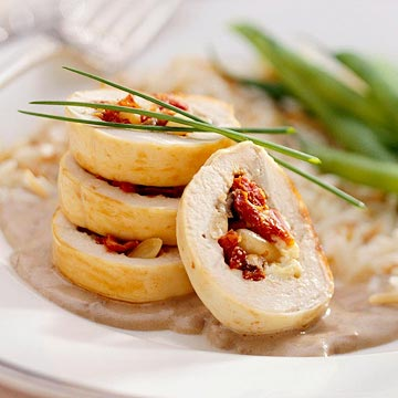 Mediterranean Stuffed Breast of Chicken