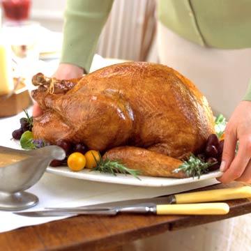 Holiday Roast Turkey with Cranberry-Apple Glaze