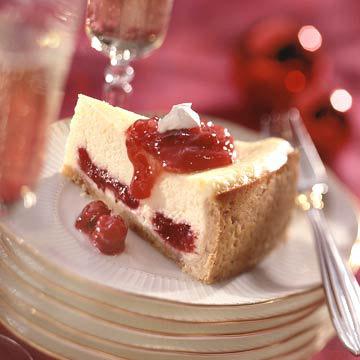 Scarlet-Swirl Cheesecake