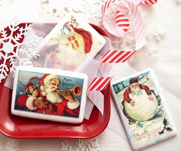 Season's Greetings Cookie Postcards