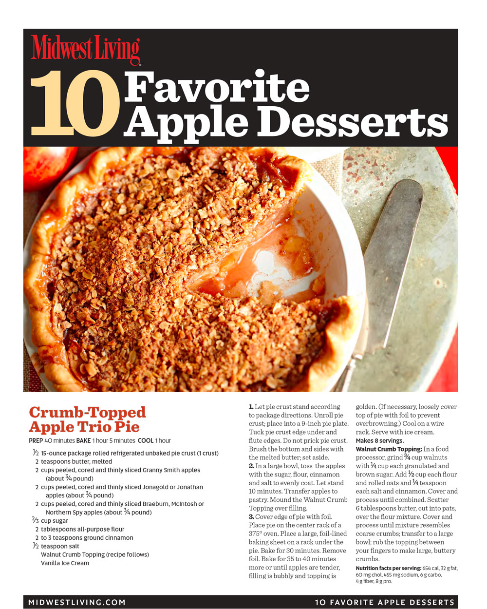 Free printable apple desserts cookbook