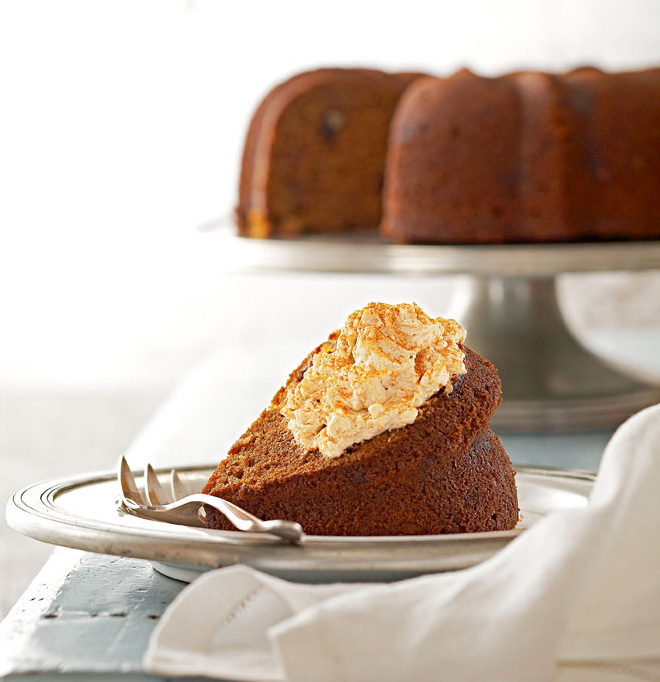 Spiced Pecan Sweet Potato Cake