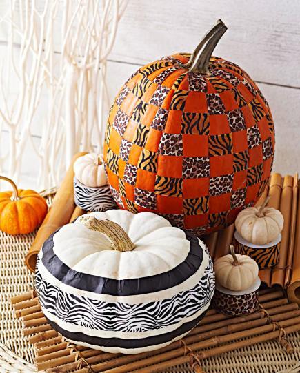 Stylish pumpkins