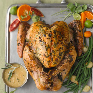Maple-Glazed Roast Turkey