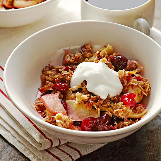 Rise and Shine Cranberry-Apple Crisp