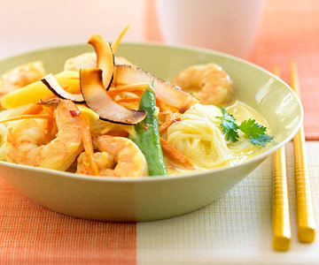 Curried Coconut Shrimp and Noodles