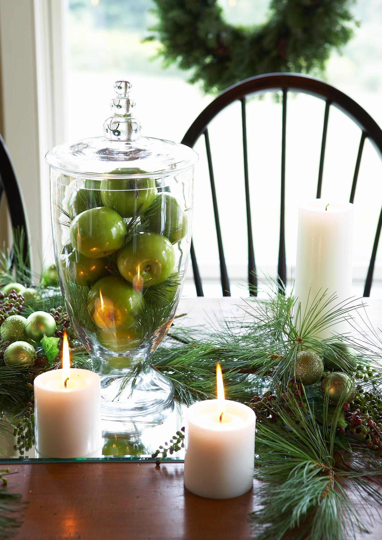 Christmas centerpiece ideas: apples