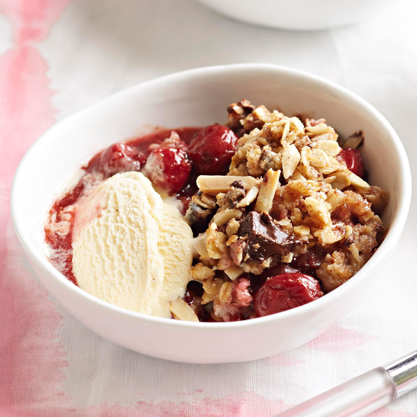 Chocolate-Cherry Crisp