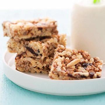 Crispy Cherry-Almond Bars with Marshmallows