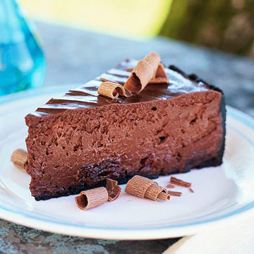 Chocolate Dried-Cherry Cheesecake