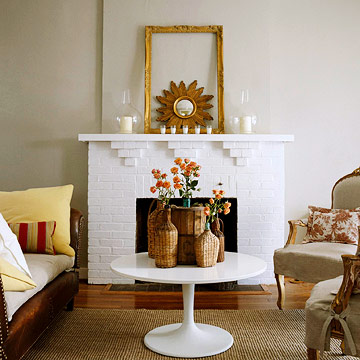 Make over a fireplace