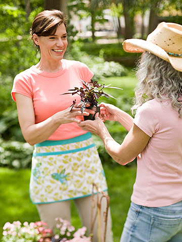 When girlfriends garden