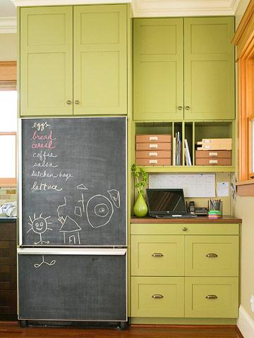 Try chalkboard paint