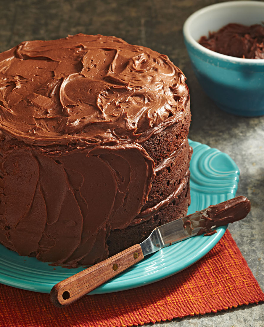 Three-Tiered Chocolate Cake