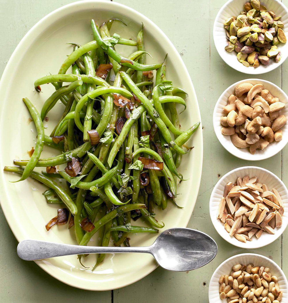 Grilled Green Beans with Shallots