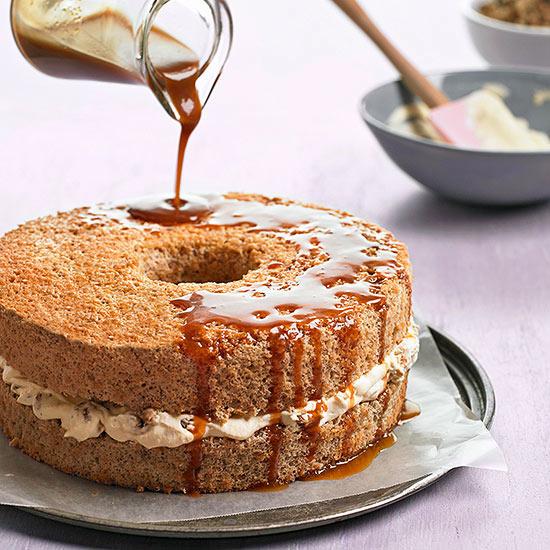 Walnut Cake with Caramel Whipped Cream