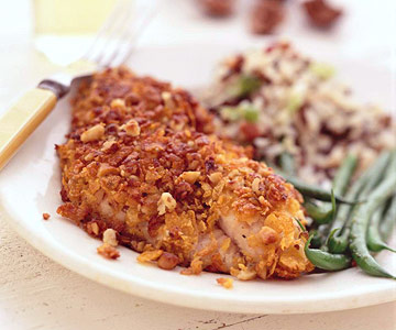 Black Walnut-Crusted Catfish with Maple Butter Sauce