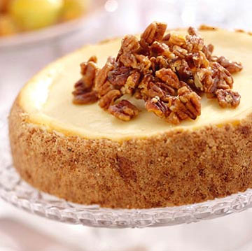 Praline cheesecake and other nutty treats