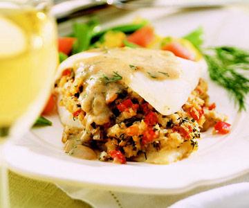 Crabmeat-Stuffed Door County Whitefish
