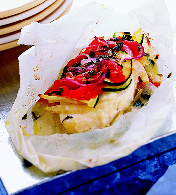 Finfish and Vegetables in Papillote