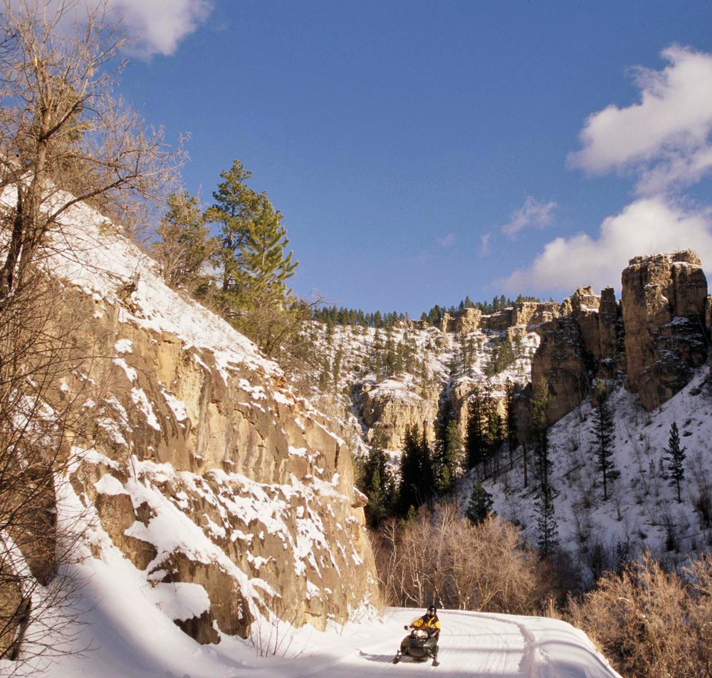 Things to Do in South Dakota's Black Hills and Badlands--Fall and winter in the Black Hills