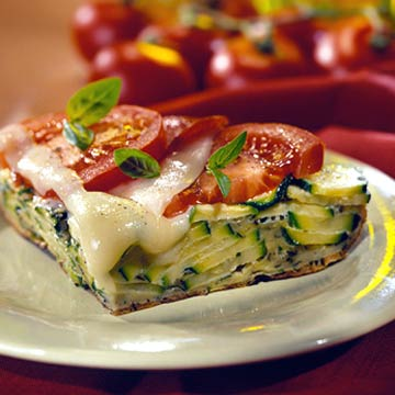 Zucchini-Pepperoni Pizza Frittata