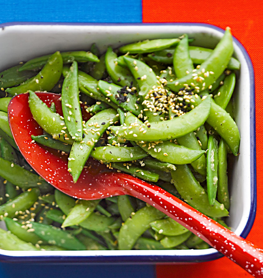 Sugar Snap Peas with Sesame Seeds
