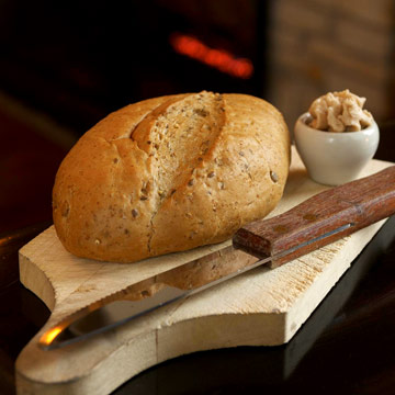 Start with homemade bread and butter