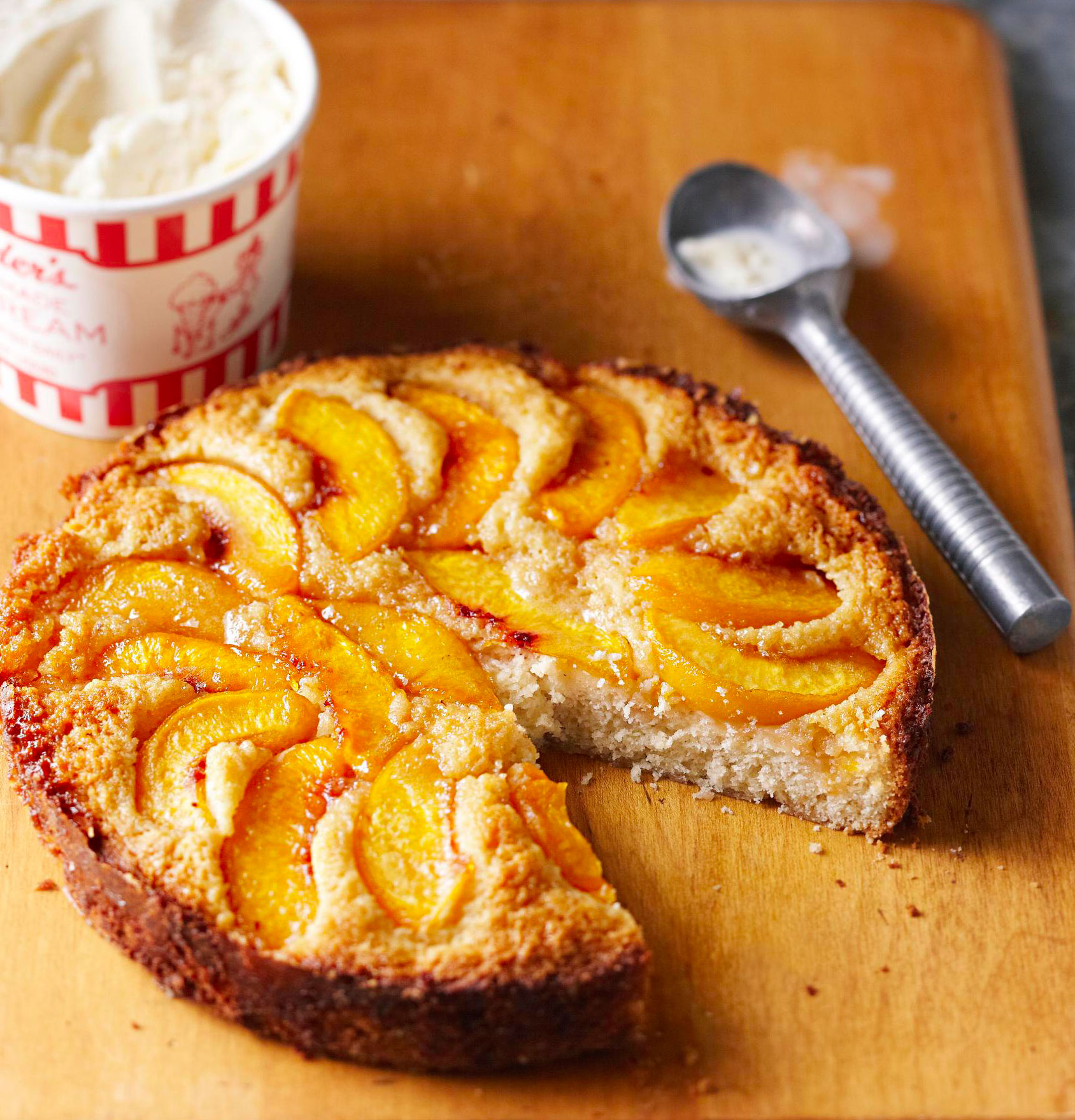 South Dakota Peach Kuchen
