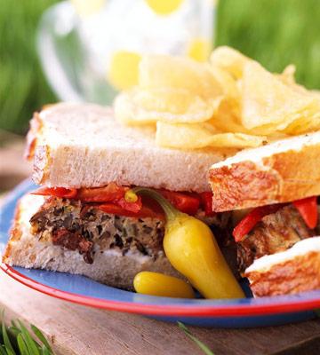 Wild Rice and Turkey Loaf Sandwich