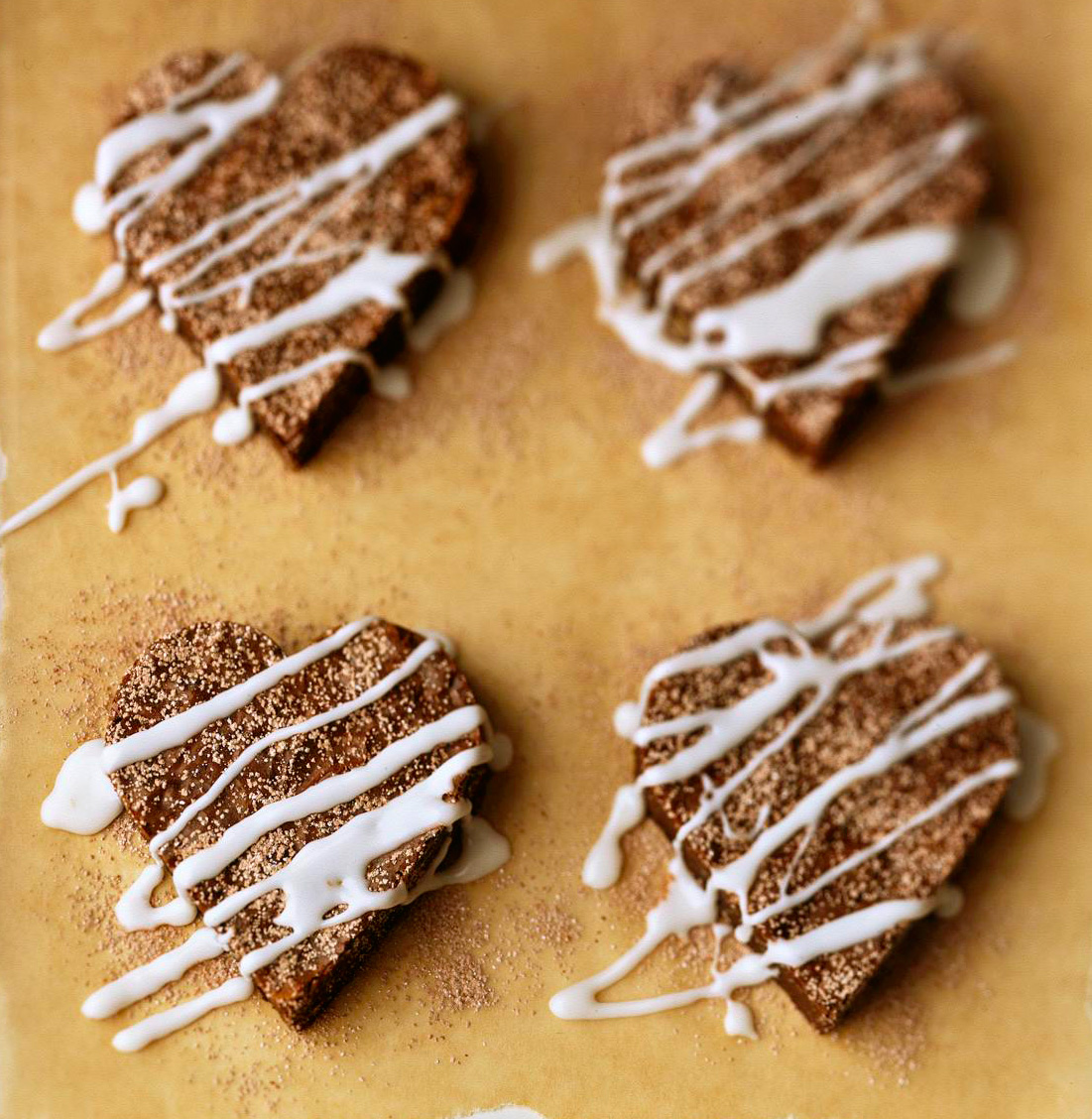 Fudge Brownie Hearts