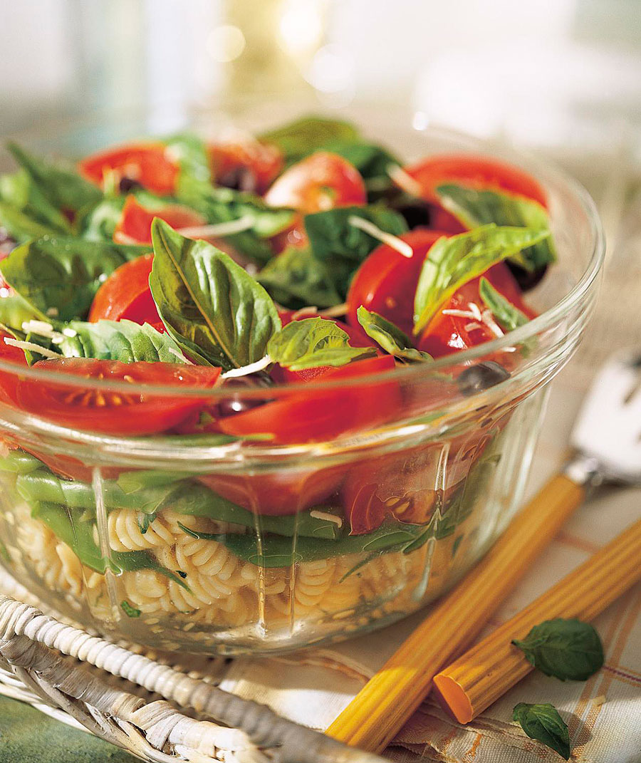 Italian Basil, Tomato and Pasta Salad